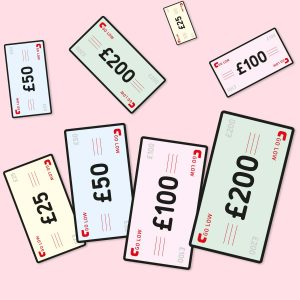 An illustration of Go Low golf gift vouchers